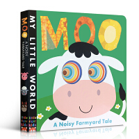 英文原版绘本 Moo: A First Book of Counting My Little World我的小世界洞洞