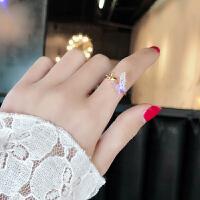 戒指女日韩潮人学生简约个性创意大气关节指环网红食指开口戒子