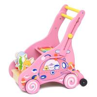 多功能学步车防侧翻 6-18个月手推车婴幼儿童宝宝木质助步车玩具