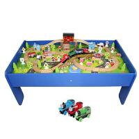 儿童拼装电动托马斯火车轨道桌 游戏桌面玩具桌 积木桌子
