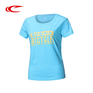 赛琪运动T恤女子夏季2016新款字母棉时尚跑步透气短袖T恤116432