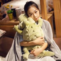 鳄鱼狗狗布朗熊毛绒玩具抱枕公仔长条枕抱枕被毯两用女生睡觉