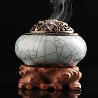 【买就送盘香】香炉陶瓷盘香线香香薰炉仿古香熏炉 工艺礼品 办公桌摆件SN0387