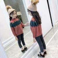 女童毛衣套头中大童秋冬装2018新款童装洋气韩版儿童中高领针织衫 .