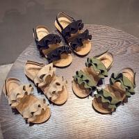 2018夏季新款韩版女童凉鞋儿童软底百搭公主中小童宝宝露趾沙滩鞋