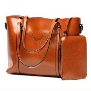 【春夏新品惠】女士包包2018新款潮流时尚女包购物袋手提真皮包简单实用女士大包
