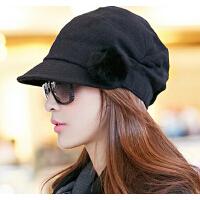 女士八角帽冬季时尚鸭舌帽时装帽韩版潮贝雷帽韩国秋冬