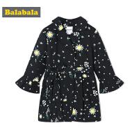 巴拉巴拉童装女童外套中大童风衣儿童春秋2018新款新年英伦外衣