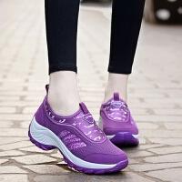 新款休闲徒步鞋女鞋网面登山鞋春秋户外透气运动内增高鞋女夏