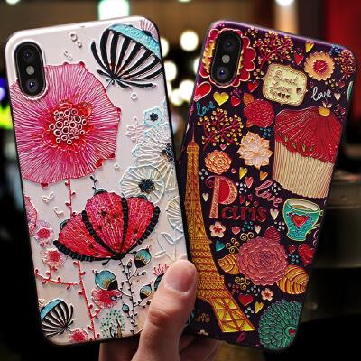 苹果手机壳套iPhoneX女款磨砂软硅胶全包