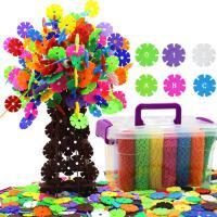 雪花片大号儿童积木益智幼儿园玩具塑料3-6周岁男孩女孩宝宝拼装 加厚中号(约1500片收纳盒装) 3cm
