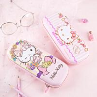 kinbor【广博】Hello Kitty简约可爱女学生铅笔盒文具盒铅笔袋大容量收纳包卡通小学生用品文具笔盒