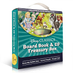 顺丰发货 Disney Classics Treasury Box(附CD) 迪士尼经典盒装 英文原版图画故事书 3-