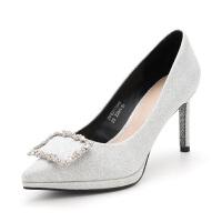 迪芙斯(D:FUSE)专柜水钻饰扣通勤尖头高跟时尚单鞋 DF83111649