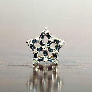 18K金镶蓝宝石星形挂坠