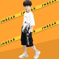 木木屋2021夏季新款男童套装潮夏天短袖中大童夏季帅气韩版两件套