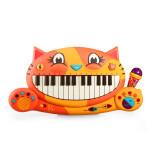 美国B.toys大嘴猫琴儿童电子琴玩具宝宝早教音乐电子琴玩具带麦克