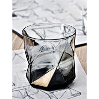 几何创意彩色玻璃杯家用耐热茶水杯果汁饮料杯