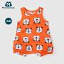 【每满299元减100元】迷你巴拉巴拉男童连体衣夏装婴幼儿宝宝卡通印花短爬服