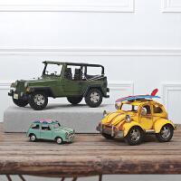 美式复古怀旧老爷车模型摆件创意家居咖啡厅摆设