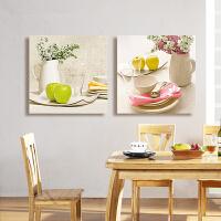 印花新款十字绣餐厅水果浪漫三联画十字绣简单小幅简约现代客厅3D