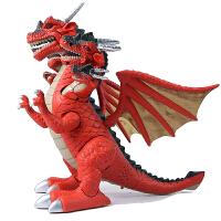 儿童七头翼龙电动仿真动物模型会走路的男孩玩具大号套装