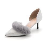 迪芙斯(D:FUSE)专柜同款格力特细跟尖头时尚单鞋 DF83114791