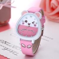 抖音社会人的手表小猪女孩卡通学生韩版简约可爱儿童初中手表