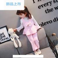 0小童洋气1女宝宝春装2韩版女童冬装套装公主时髦3岁婴儿童潮衣服