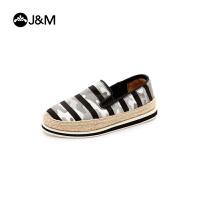 jm快乐玛丽2017春季新品低帮套脚麻底舒适帆布鞋男童休闲鞋72083C