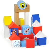 宝宝手推学步车 木制积木 儿童玩具 宝宝手推学步车 木制积木