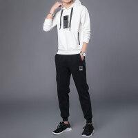 男衣服套装韩版春秋新款潮流帅气两件套连帽运动休闲潮牌卫衣男装