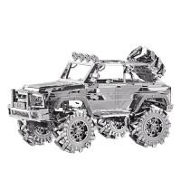 20180530091331499金属模型拼装 3D立体DIY手工组装车模创意玩具 越野车 越野车+初级工具+原装展示