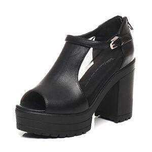Tata/他她春季时尚女皮凉鞋2U503AU6