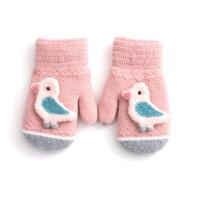 儿童手套加绒加厚保暖防风防寒卡通可爱针织毛线宝宝小孩手套