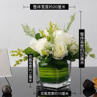 假花玫瑰花仿真花客厅摆设餐桌花艺茶几摆件绢花绣球花装饰品花束