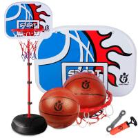 铁杆篮球架可升降投篮框家用室内宝宝男孩皮球类玩具儿童户外运动