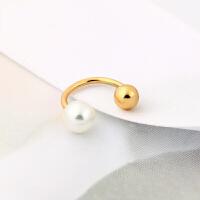 彩金珍珠耳钉无耳洞耳夹耳饰耳坠配饰品礼物情人节礼物
