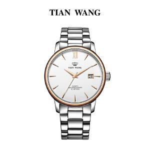 天王表 情侣手表防水男士钢带表 男表商务女士休闲石英女表3996
