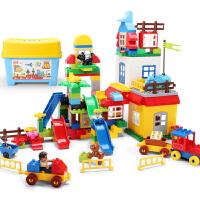 儿童城市早教启蒙积木玩具益智拼装塑料拼插组装3-5-6周岁