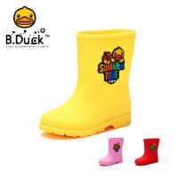 【大促价:49】B.Duck小黄鸭童鞋女童雨靴夏季新款儿童软底耐磨防水雨靴潮BP1009901