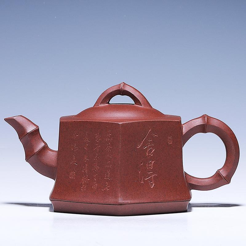 【工艺美术员】 马成浩 《六方竹段》铁星泥