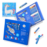 儿童油画棒彩色画笔宝宝油画笔涂鸦笔24色36色蜡笔