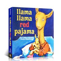 英文原版进口绘本 Llama Llama Red Pajama 穿红睡衣的羊驼拉玛 简单押韵入门纸板书 good ni