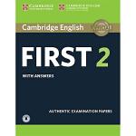 【中商原版】剑桥FCE考试2 真题集:学生书(含答案和音频)英文原版 Cambridge English First