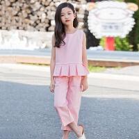 2019 女童背心套装夏季新款中大童韩版两件套长裤时尚休闲童装