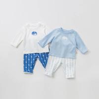 [2件3折价:78]戴维贝拉春装新款男童套装宝宝卡通两件套DBH10071