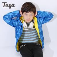 TAGA童装男童轻薄羽绒服 儿童羽绒服2017冬装新款中大童羽绒服