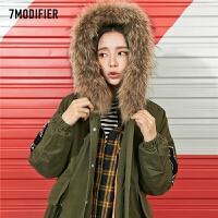 棉袄2018冬季新款棉衣宽松韩版中长款大毛领大衣加厚外套女潮