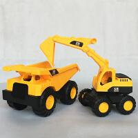 仿真惯性挖土机 耐摔大挖掘机玩具模型沙滩儿童节男孩推土机